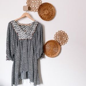 FREE PEOPLE short tunic dress, SZ S, EUC